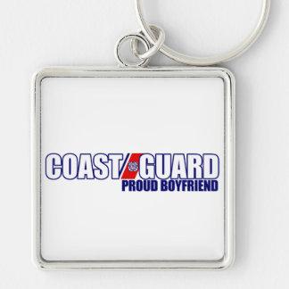 Proud Coast Guard Boyfriend Silver-Colored Square Keychain