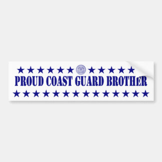 Proud Coast Guard Brother Stars Bumper Sticker