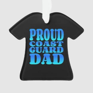 Proud Coast Guard Dad in Blue Ornament