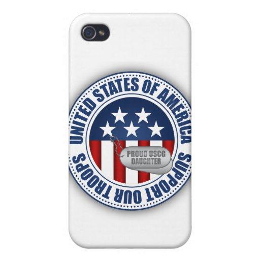 Proud Coast Guard Daughter iPhone 4/4S Case