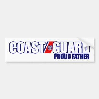 Proud Coast Guard Father Car Bumper Sticker