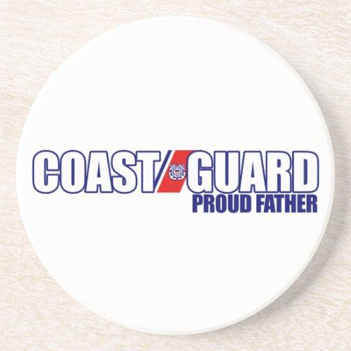 Proud Coast Guard Father Coasters
