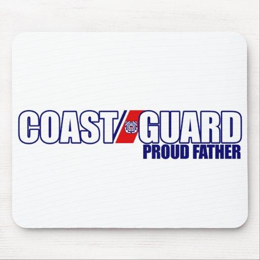 Proud Coast Guard Father Mouse Pad