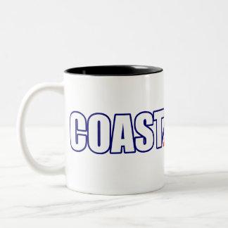 Proud Coast Guard Father Two-Tone Coffee Mug