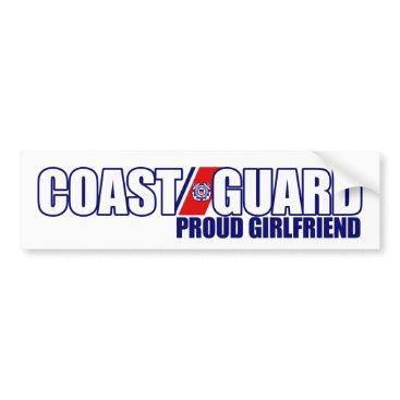 militaryvetshop Proud Coast Guard Girlfriend Bumper Sticker