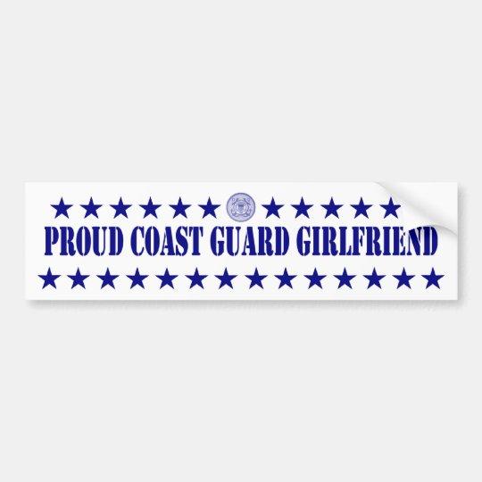 Proud Coast Guard Girlfriend Stars Bumper Sticker