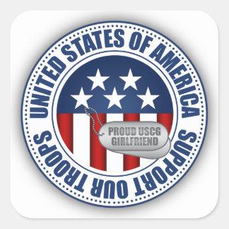 Proud Coast Guard Girlfriend Square Sticker