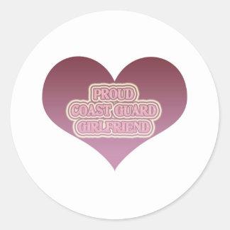 Proud Coast Guard Girlfriend Classic Round Sticker