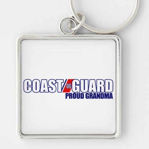 Proud Coast Guard Grandma Silver-Colored Square Keychain