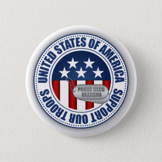 Proud Coast Guard Grandma Pinback Button