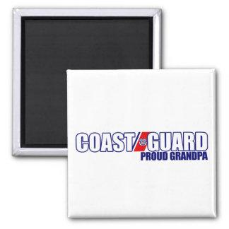 Proud Coast Guard Grandpa 2 Inch Square Magnet