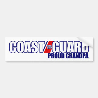 Proud Coast Guard Grandpa Car Bumper Sticker