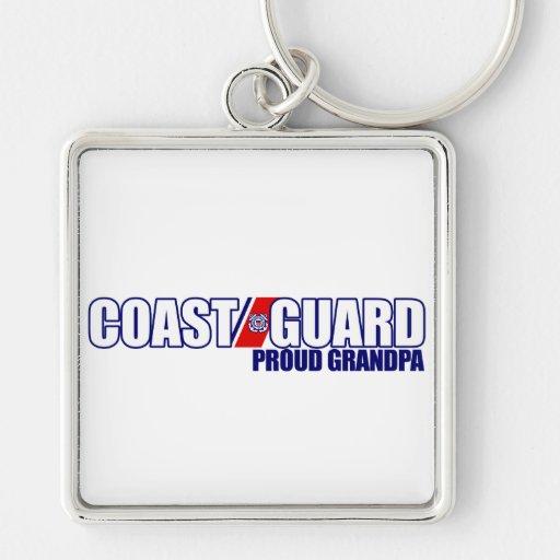 Proud Coast Guard Grandpa Key Chains