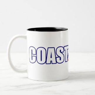 Proud Coast Guard Grandpa Two-Tone Coffee Mug