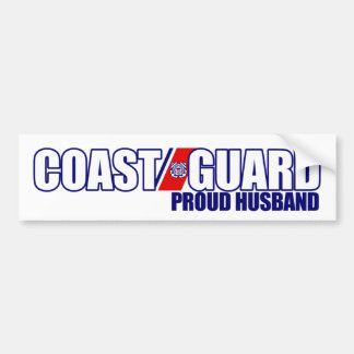 Proud Coast Guard Husband Car Bumper Sticker