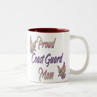 Proud Coast Guard Mom Two-Tone Coffee Mug