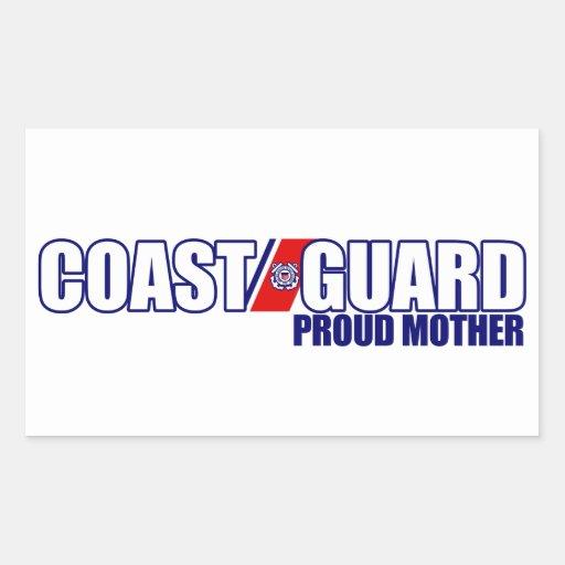 Proud Coast Guard Mother Rectangular Stickers