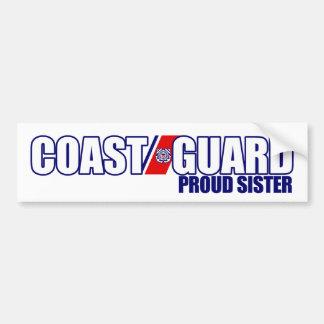 Proud Coast Guard Sister Car Bumper Sticker