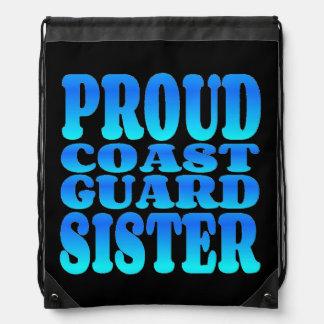 Proud Coast Guard Sister Drawstring Bag