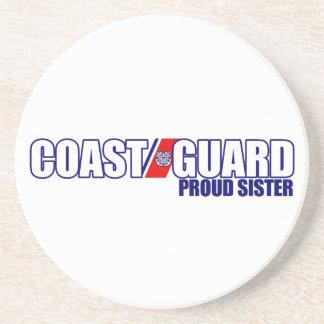 Proud Coast Guard Sister Sandstone Coaster