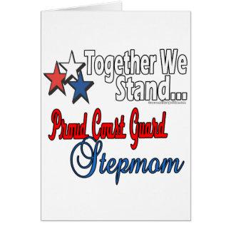 Proud Coast Guard Stepmom Greeting Card