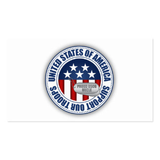 Proud Coast Guard Uncle Business Card
