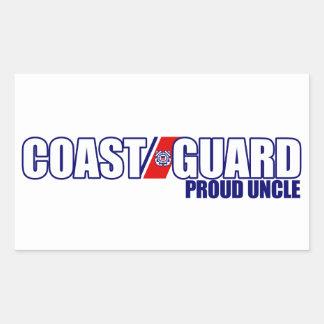 Proud Coast Guard Uncle Rectangular Sticker