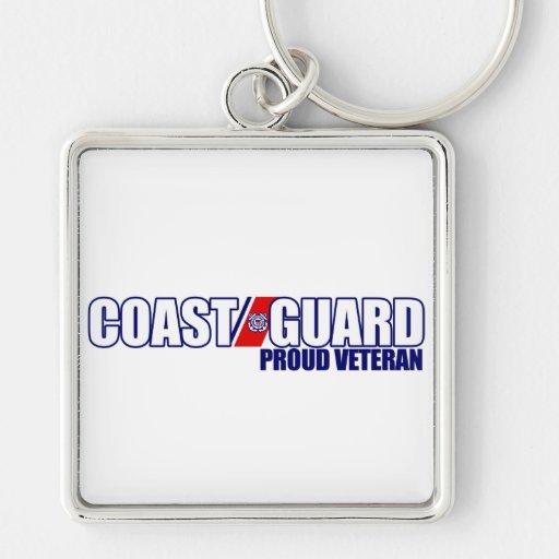 Proud Coast Guard Veteran Keychains