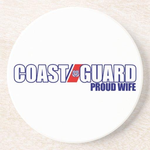 Proud Coast Guard Wife Drink Coaster