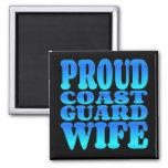 Proud Coast Guard Wife in Blue Refrigerator Magnet