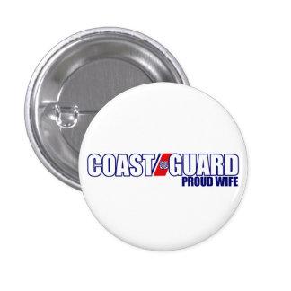 Proud Coast Guard Wife Pinback Button