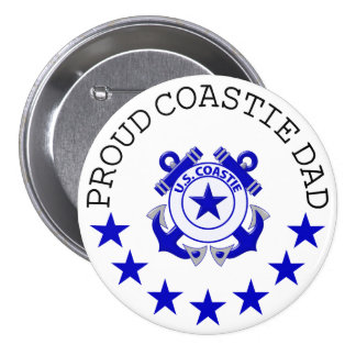 Proud Coastie Dad Pinback Button