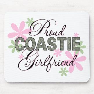 Proud Coastie Girlfriend Camo Mouse Pad