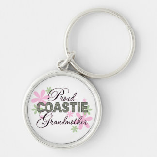 Proud Coastie Grandmother Camo Silver-Colored Round Keychain