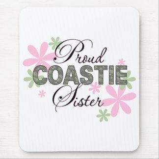 Proud Coastie Sister Camo Mouse Pad