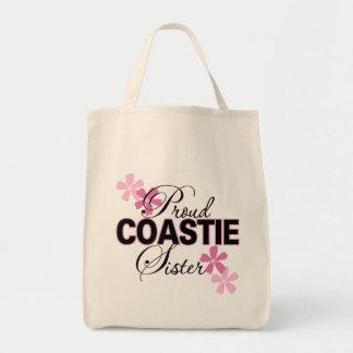 Proud Coastie Sister Grocery Tote Bag