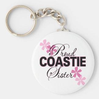 Proud Coastie Sister Keychain