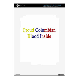 Proud Colombian Blood Inside Skin For iPad 3