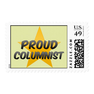 Proud Columnist Postage Stamps