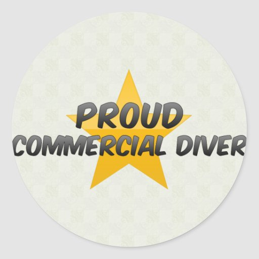 Proud Commercial Diver Classic Round Sticker