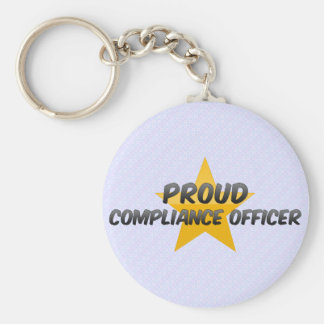 Proud Compliance Officer Basic Round Button Keychain