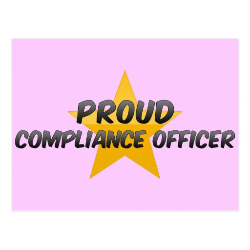 Proud Compliance Officer Post Card