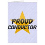 Proud Conductor Greeting Card