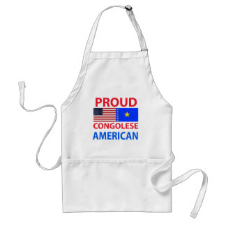 Proud Congolese American Adult Apron