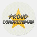 Proud Congressman Round Stickers