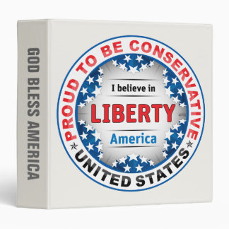 Proud Conservative 3 Ring Binder