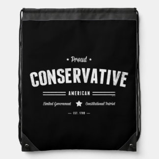 Proud Conservative American Drawstring Backpack