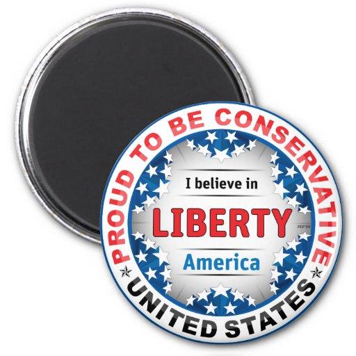 Proud Conservative Fridge Magnet