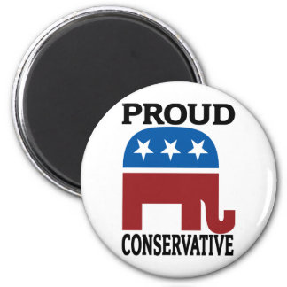 Proud Conservative 2 Inch Round Magnet