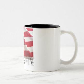 PROUD CONSERVATIVE Two-Tone COFFEE MUG
